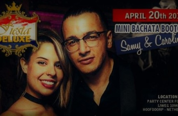Bachata Bootcamp Samy en Carolina 20 april 2019 flyer